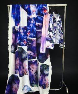 Stoffe auf einer Kleiderstange - Design
